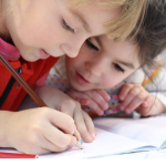 two students learning together